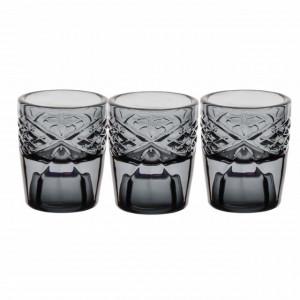 Set suport Pufo Luxury pentru lumanare din sticla, 6 x 5 cm, 3 buc