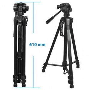 Set Trepied foto telescopic Weifeng WT-3540 universal 61-157 cm si Bagheta telescopica extensibila 13-60 cm pentru prezentari, proiecte sau profesori