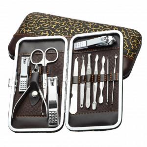 Set trusa Pufo Luxury pentru manichiura si pedichiura, 12 bucati