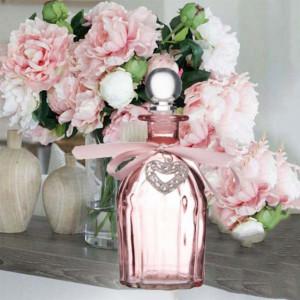 Sticla decorativa Pufo Heart Pinky, 270 ml