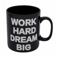 Cana uriasa ceramica Work Hard & Dream, 815 ml, Pufo
