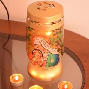 candela bisericeasca cu lumanare