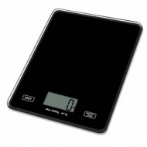 Cantar electronic de bucatarie din sticla, afisaj digital, sarcina maxima 5 kg, negru