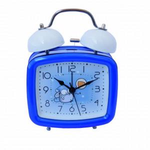 Ceas de masa desteptator pentru copii Pufo Joy, cu buton de iluminare cadran, 16 x 12 cm, model Mouse