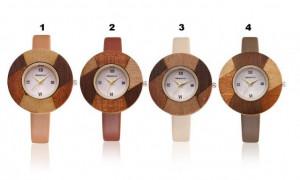 ceas dama cadran din lemn