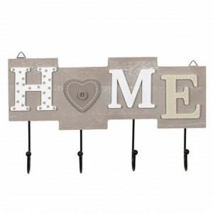 Cuier suport din lemn Pufo Home pentru chei, 28 cm