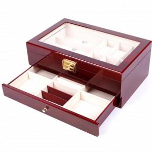 cutie caseta din lemn pentru bijuterii si ochelari de soare