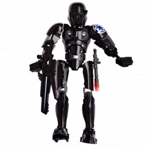 Figurina de jucarie Robotul luptator, model asamblabil, 21 cm, negru
