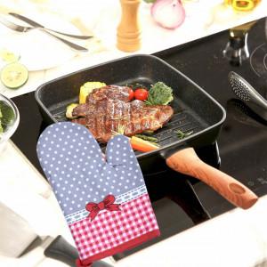 Manusa de bucatarie Grey Dots pentru gratar sau cuptor, 24 x 16 cm