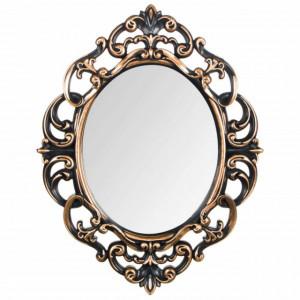 Oglinda ovala de perete Pufo Vintage Bronze, 30 cm