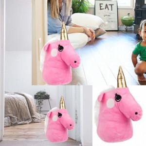 Opritor usa textil, model Pinky happy unicorn, roz
