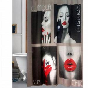 Perdea de dus Pufo Glamour, 180 x 180 cm