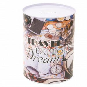 Pusculita metalica Travel, Explore, Dream, 15 cm, Pufo