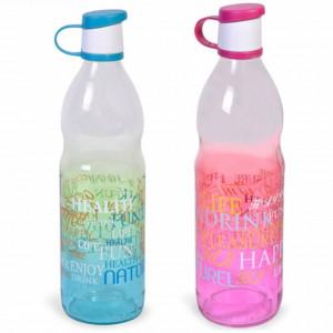 Set 2 sticle de apa pentru el si ea, cu mesaj motivational, 1L