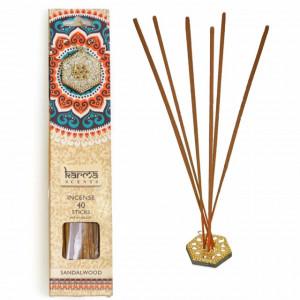 Set 40 betisoare parfumate cu aroma asiatica si suport, potrivit pentru aromaterapie, Pufo
