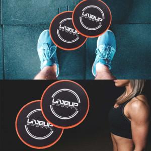 Set discuri de alunecare fitness, Pufo, 2 bucati