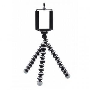Set Lampa circulara LED Ring Light cu trepied, cu trepte de lumina reglabila, 360° si Trepied flexibil cu suport pentru telefon mobil sau aparat foto, Pufo