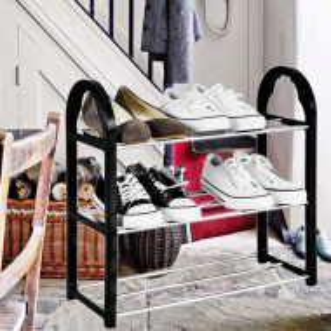 Suport pentru pantofi cu 3 rafturi, pliabil, 47,5 cm, Pufo