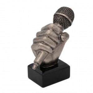 Trofeu microfon Pufo, argintiu