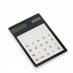 Calculator de birou cu ecran tactil, alimentare solara, transparent, Pufo