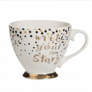 Cana pentru cafea Make your story, cu picior, 385 ml