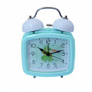 Ceas de masa desteptator pentru copii Pufo Joy, cu buton de iluminare cadran, 16 x 12 cm, model Dragon