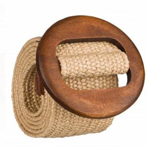 Curea dama Pufo Simple pentru talie, reglabila, 100 x 5 cm, bej