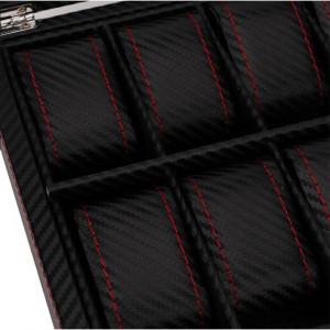 Cutie caseta pentru depozitare si organizare 12 ceasuri, model Pufo Glossy Royal