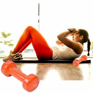Gantera pentru exercitii fizice, tonifiere, fitness, 2 kg