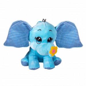 Jucarie de plus Elefantul Pufo, 40 cm, albastru
