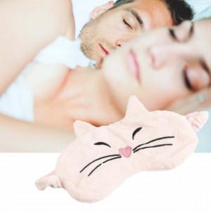 Masca pentru dormit sau calatorie, model Kitty, 18 cm