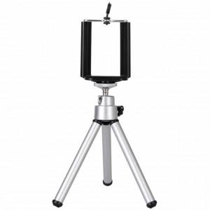 Mini trepied metalic cu suport pentru telefon mobil sau aparat foto, model Pufo Premium