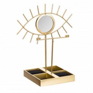 Organizator metalic pentru bijuterii si accesorii, Pufo Gold Eye, model Premium, 30 cm