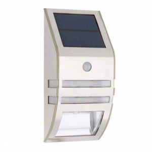 Proiector solar pentru perete cu LED, senzor de miscare si senzor de lumina, Pufo
