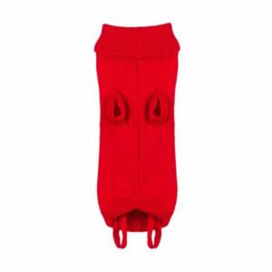 Pulover tricotat Pufo pentru animale de companie, model Red fluffy