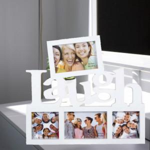 Rama foto decorativa cu 4 poze, model Pufo Laugh, 40 x 36 cm
