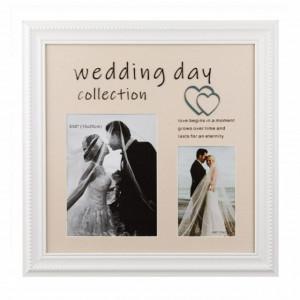 Rama foto decorativa Pufo, model Wedding Day, 2 poze, 39 x 39 cm