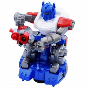 Robot interactiv Pufo Robo cu arma, sunete si lumini, 20 cm