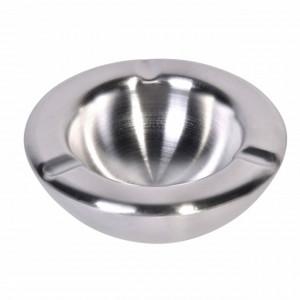 Scrumiera metalica Pufo Clasic, 14 cm, argintiu