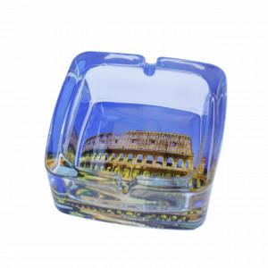 Scrumiera Pufo din sticla, model Colosseum, 9,5 cm