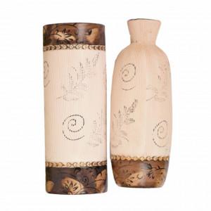 Set 2 vaze decorative Pufo pentru flori, model vintage
