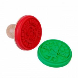 Set stampile Pufo pentru biscuiti, fursecuri, prajituri, etc, model de Craciun, 2 buc