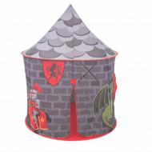 Spatiu de joaca cort pentru baieti, model castel, imprimeu cu soldat si dragon, utilizare interior/ exterior, Pufo