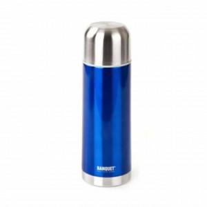 Sticla termos din otel inoxidabil pentru bauturi, 500 ml, albastru