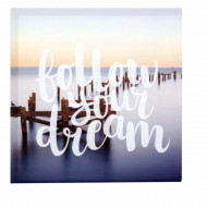 Tablou decorativ canvas Follow your dream, 40 cm, Pufo