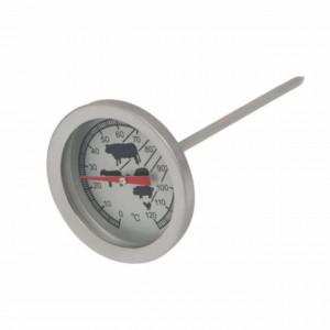 Termometru metalic de bucatarie pentru carne cu sonda, 0°C - 120°C