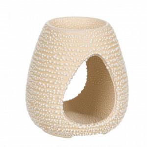Vas din ceramica pentru aromaterapie Pufo White, 10 cm