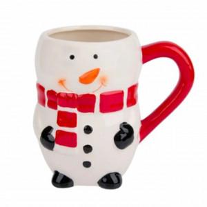 Cana Om de zapada Pufo pentru cafea sau ceai, model de sarbatori