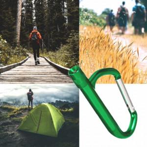 Carlig carabina pentru camping si drumetii, lanterna incorporata