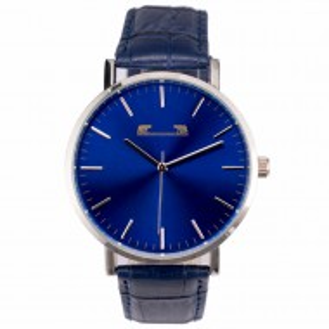 Ceas barbatesc clasic-elegant, design italian, albastru, cutie inclusa